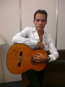 Marc Anthony with guitar